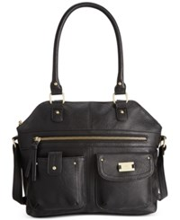 Styleandco. Style And Co. On The Go Satchel Only At Macy's Black