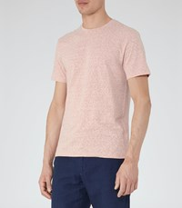 Reiss Sonar Mens Mottled Weave T Shirt In Pink