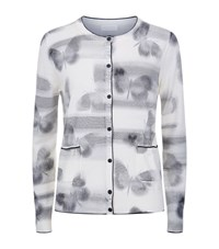 Escada Sport Butterfly Pattern Cardigan Female Black
