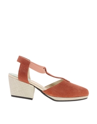New Kid Enid Twist Melon Heeled Shoe Redmelon