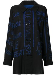 Jc De Castelbajac Vintage Handwritting Printed Shirt Black