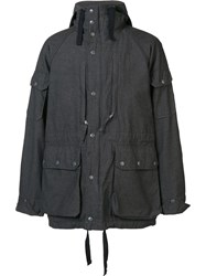 Engineered Garments Flap Pockets Hooded Coat Grey
