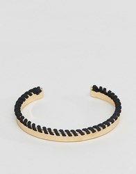 Asos Bangle In Gold With Contrast Whipstitch Gold