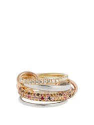 Spinelli Kilcollin Rainbow Diamond Sapphire And Gold Ring Multi