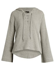 The Upside Oxford Hooded Cotton Top Grey