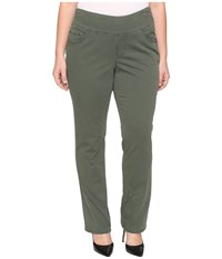 Jag Jeans Plus Size Peri Pull On Straight In Deep Forest Bay Twill Deep Forest Women's Green