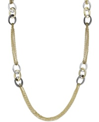 Alfani Tri Tone Multi Chain Link Station Necklace