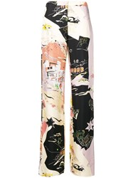 Emilio Pucci Graphic Pajama Trousers Nude And Neutrals