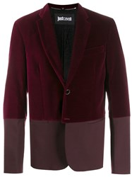 Just Cavalli Two Tone Blazer Red
