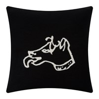 Bella Freud Dog Cushion Black
