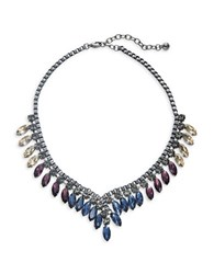 Design Lab Lord And Taylor Marquise Accented Statement Necklace Blue