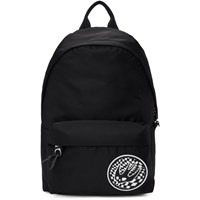 Mcq By Alexander Mcqueen Black Swallow Patch Classic Backpack