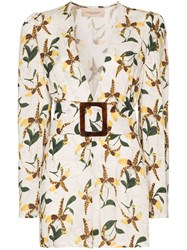 Adriana Degreas Belted Orchid Print Playsuit 60