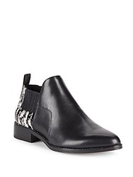 Pour La Victoire Almond Toe Leather Chukka Boots Black