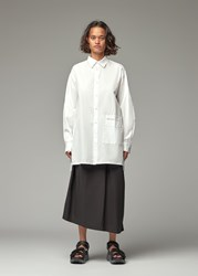 Yohji Yamamoto Y's By 'S Lower Pocket Button Down Blouse In White Size 2