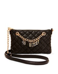 Betsey Johnson Give Me A B Quilted Bag Black