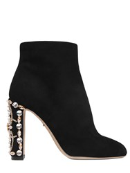 Dolce And Gabbana 105Mm Vally Embellished Suede Boot
