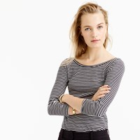J.Crew Three Quarter Sleeve Ballet T Shirt In Stripe