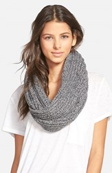 Women's Madewell 'Softest' Knit Infinity Scarf Grey Marled Pepper