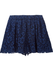 Msgm Floral Lace Shorts