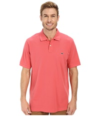 Vineyard Vines Classic Pique Polo Jetty Red Men's Short Sleeve Pullover Black