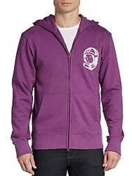 Billionaire Boys Club Colored Helmet And Logo Zip Hoodie Purple
