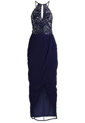 Lace And Beads Basia Cocktail Dress Party Dress Midnight Blue Dark Blue