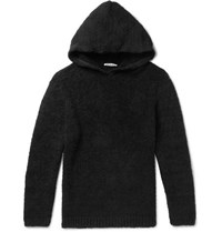Our Legacy Cotton Blend Terry Hoodie Black
