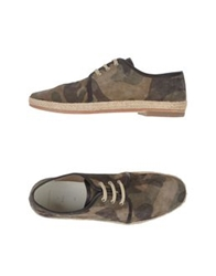 N.D.C. Made By Hand Lace Up Shoes Military Green