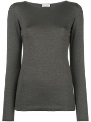 Brunello Cucinelli Plain Sweatshirt Grey