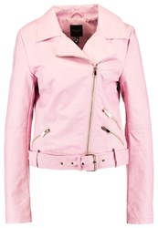 New Look Tall Faux Leather Jacket Pink