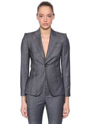 Dsquared Wool Prince Of Wales Suit Grey