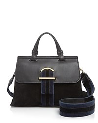 Cynthia Rowley Hudson Stripe Satchel Black Blue