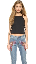 Msgm Halter Lace Side Top