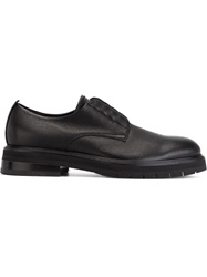 Bruno Bordese Ridged Sole Derby Shoes Black