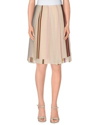 Maurizio Pecoraro Skirts Knee Length Skirts Women Beige