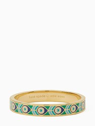Kate Spade Fine Feather Hinged Idiom Bangle Multi