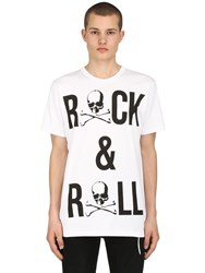 Mastermind World Rock And Roll Cotton Jersey T Shirt White