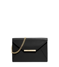 Michael Kors Lana Leather Envelope Clutch Black