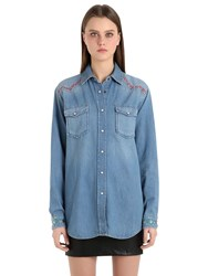 Tommy Hilfiger Cotton Denim Western Shirt Gigi Hadid