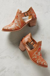 Anthropologie Kelsi Dagger Brooklyn Kline Cutout Booties Honey