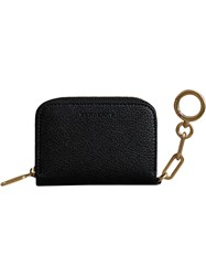 Burberry Link Detail Leather Ziparound Wallet Black