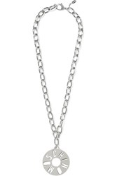 Moschino Silver Tone Necklace One Size