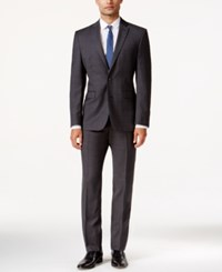 Vince Camuto Charcoal Plaid Slim Fit Suit Chclshkpld