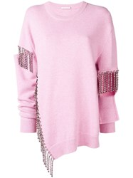 Christopher Kane Crystal Cutout Knit Pink
