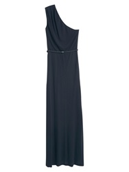 Mango Belted Gown Black