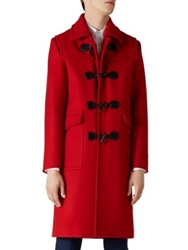 Gucci Montgomery Wool Twill Coat Flame Red