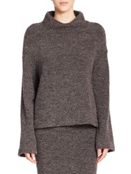 Elizabeth And James Kirk Turtleneck Sweater Charcoal