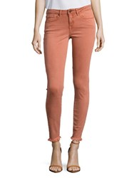 William Rast The Perfect Skin Five Pocket Frayed Cuff Jeans Burnt Sienna