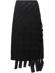 Marco De Vincenzo Woven Midi Skirt Black